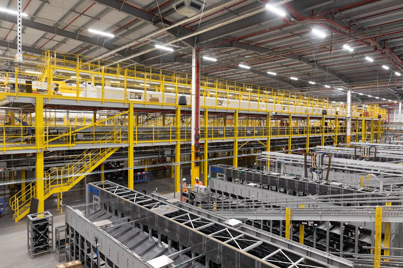 Mezzanine Systems Press Release by MiTek - View of a mezzanine system in a warehouse