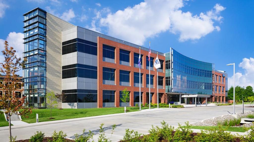 Building Industries served by MiTek - The exterior of MiTek's head Commercial Office building in St Louis, Missouri