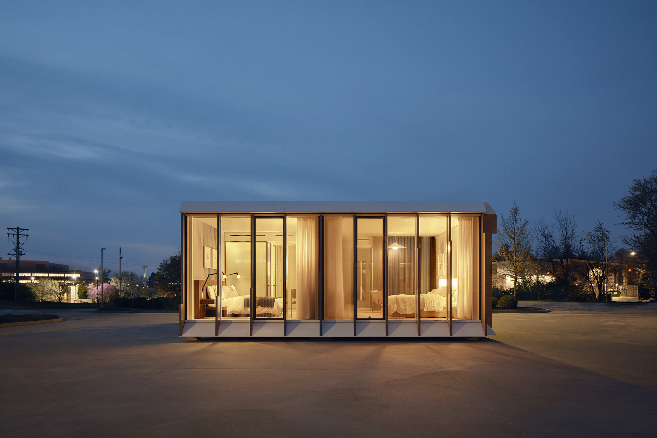 Modular Solutions Press Release by MiTek - The exterior of a volumetric modular unit for hotel