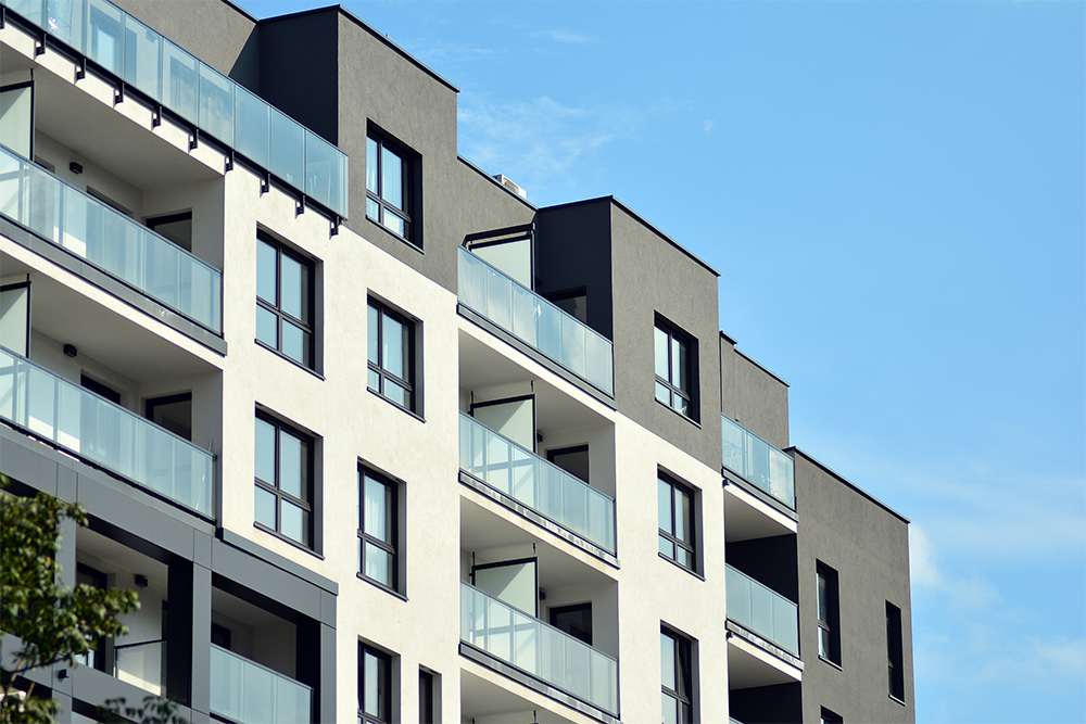 Building Industries served by MiTek - View of a multi-family apartment building
