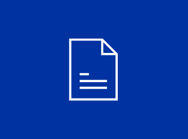 MiTek Newsroom - A blue graphic with a white piece of paper in the center