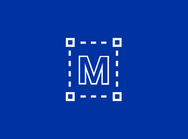 MiTek Newsroom - a blue graphic with a white, square outline and the letter M in the center
