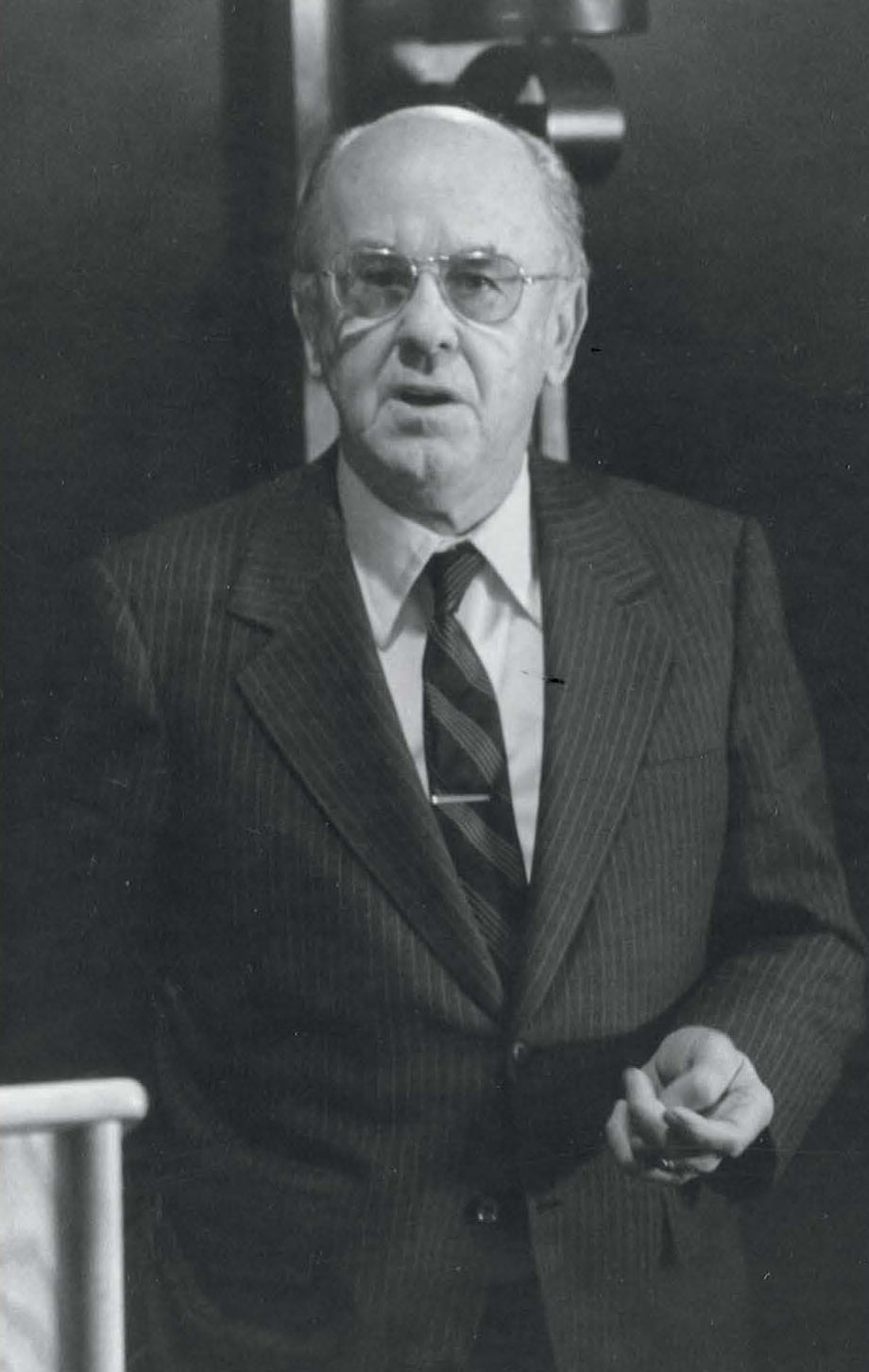 MiTek's History - Black and white photo of Walter Moehlenpah from the 1960s