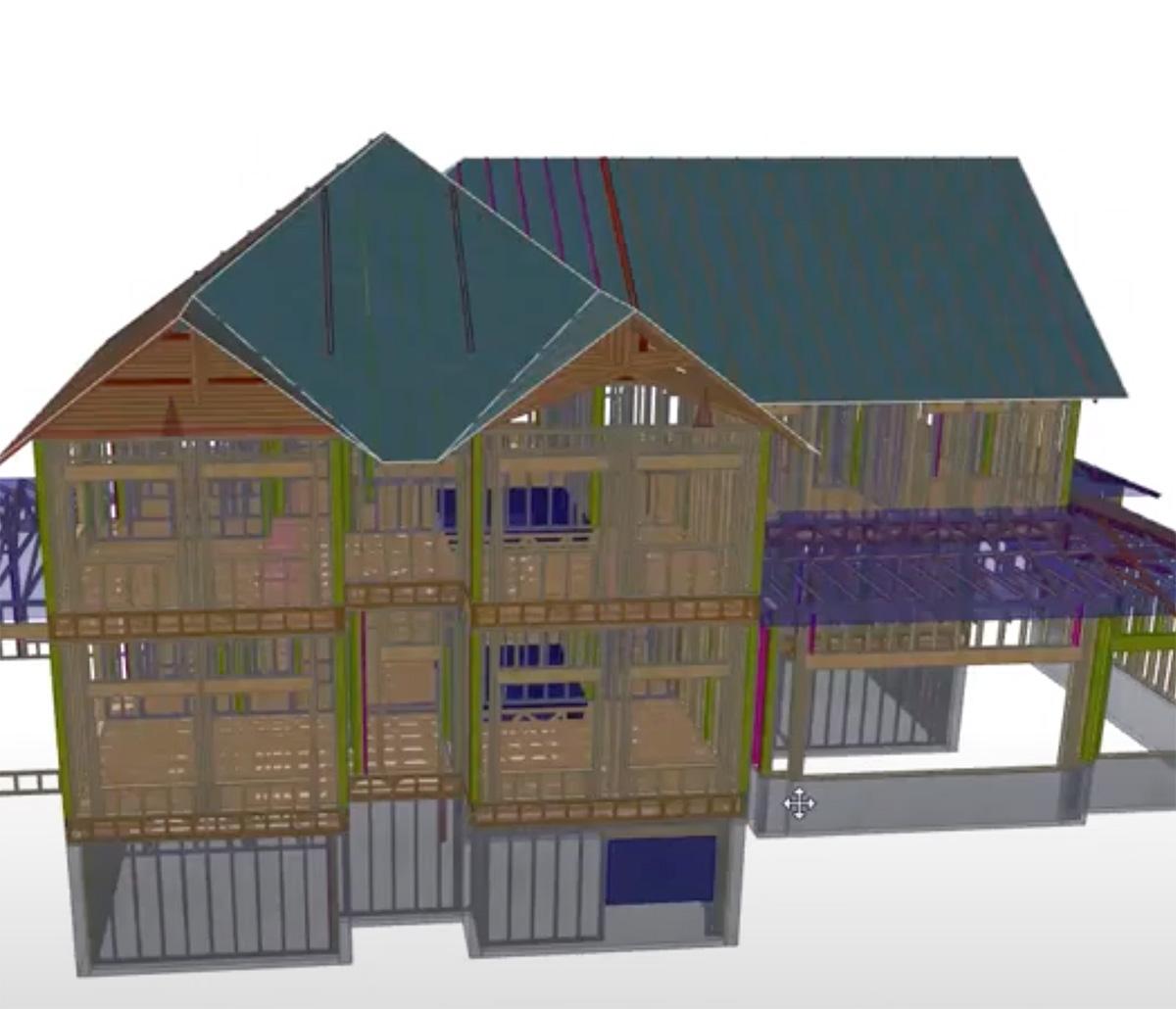 MiTek BIM Services - 3D BIM model of a house