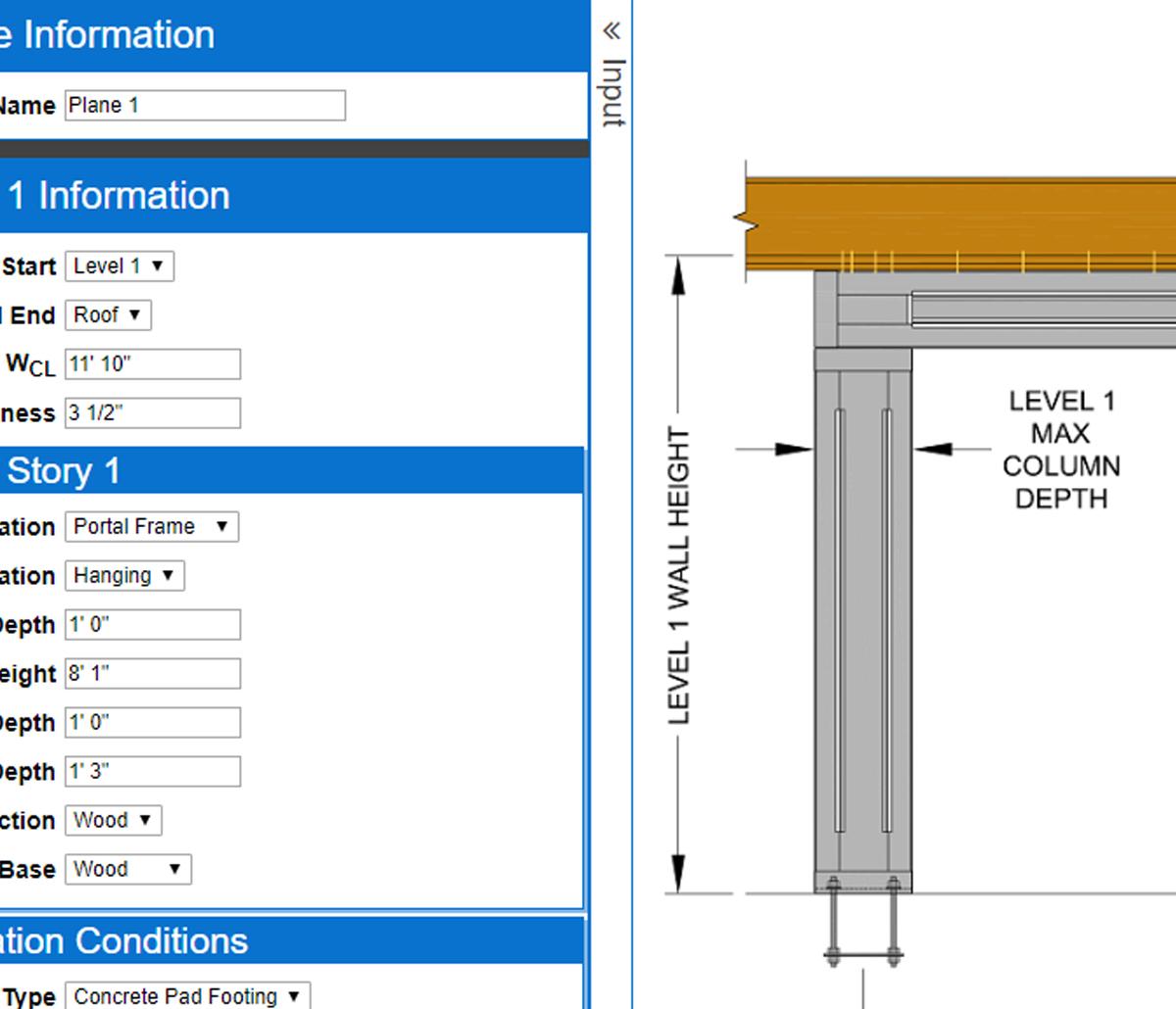 MiTek Cold-Formed Steel Designer Software - Screenshot of CFS Designer software