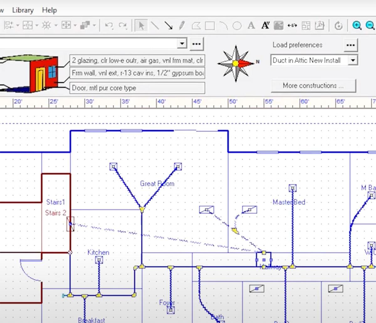 MiTek HVAC Design Services - Screenshot of HVAC Design software