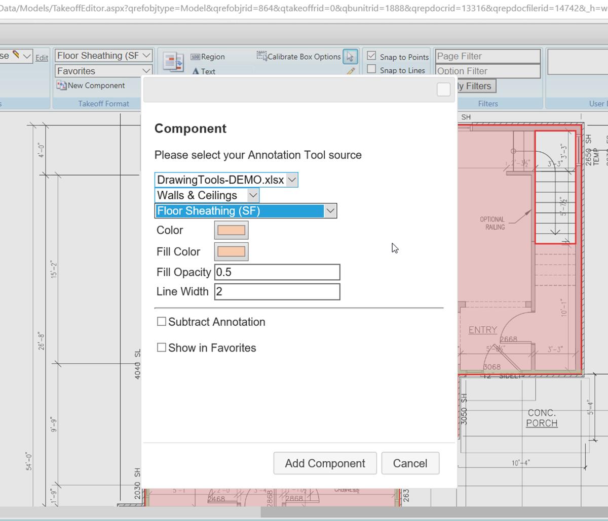 MiTek KOVA Trace Software - Screenshot of KOVA Trace software