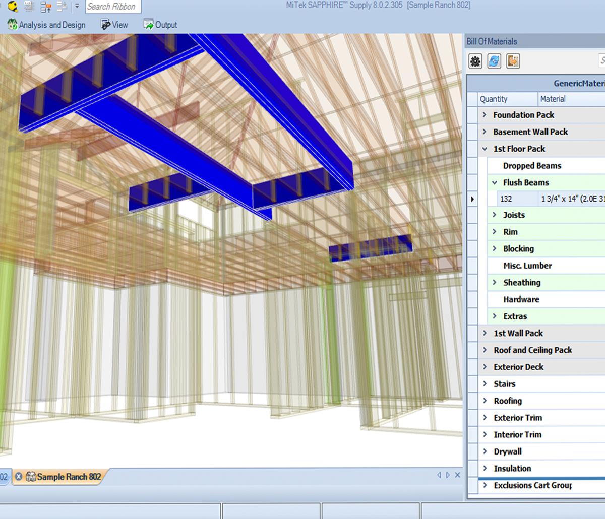 MiTek Supply Software - Screenshot of MiTek Support software