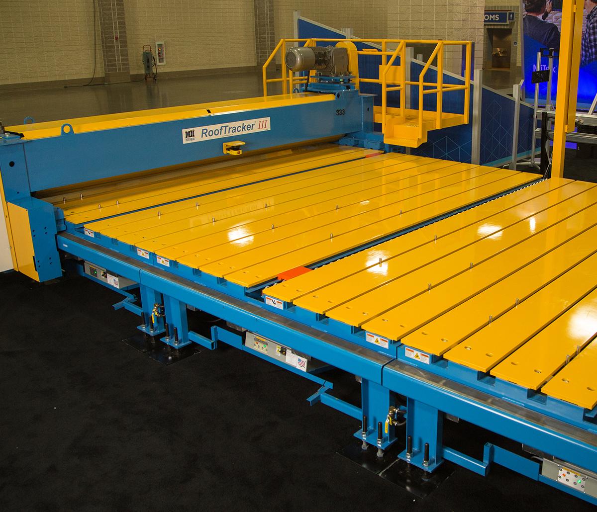 MiTek Rooftracker III Roller Gantry Automated Solutions - Rooftracker III in facility