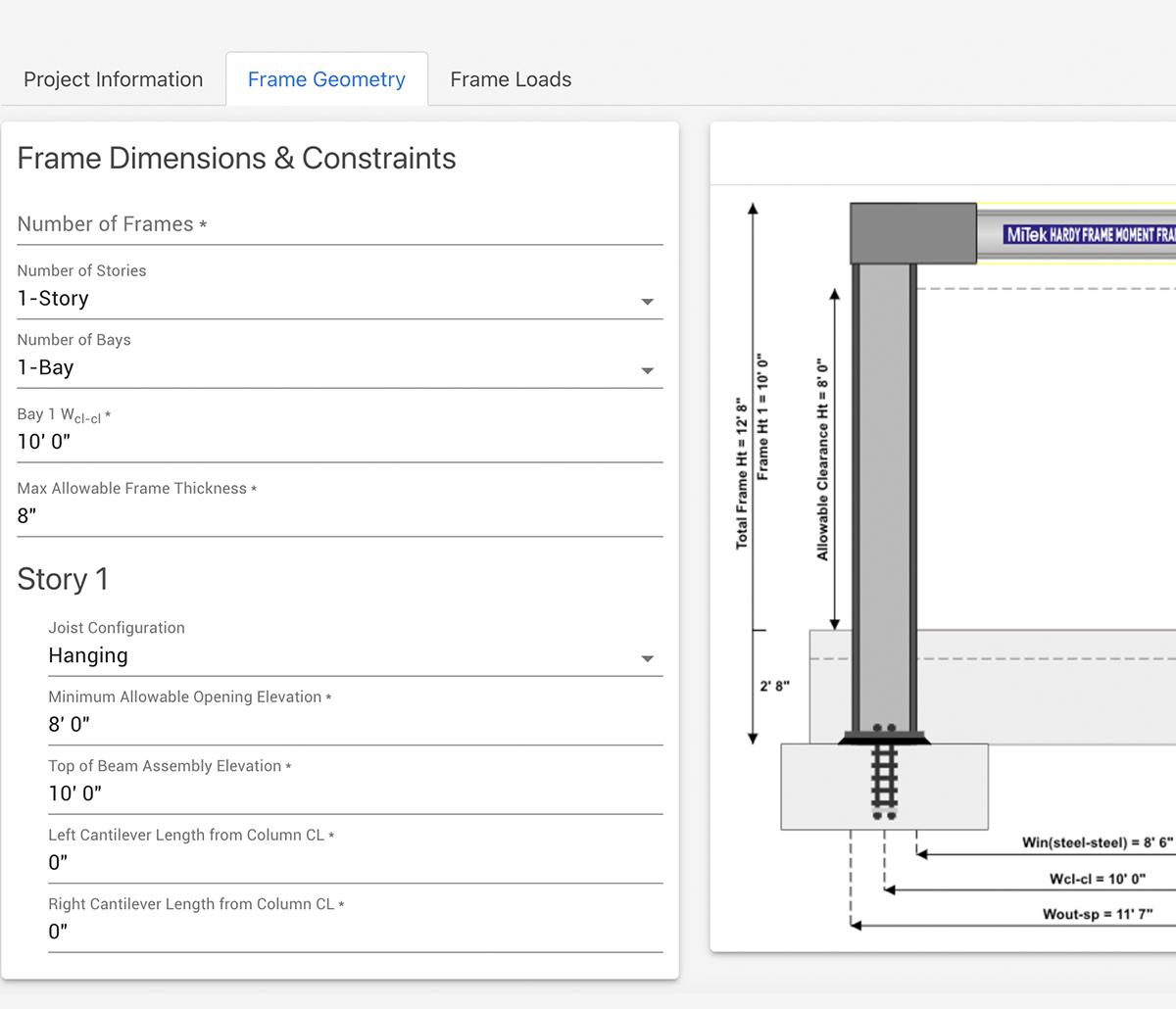 MiTek SMF Designer Software - Screenshot of SMF Designer software