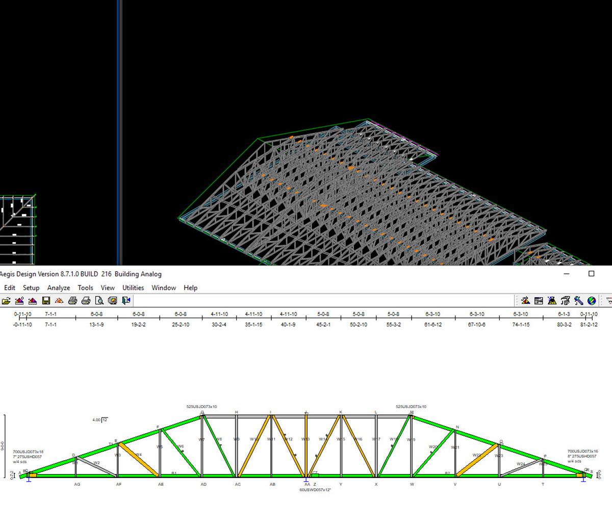 MiTek Steel Engine Software - Screenshot of Steel Engine software