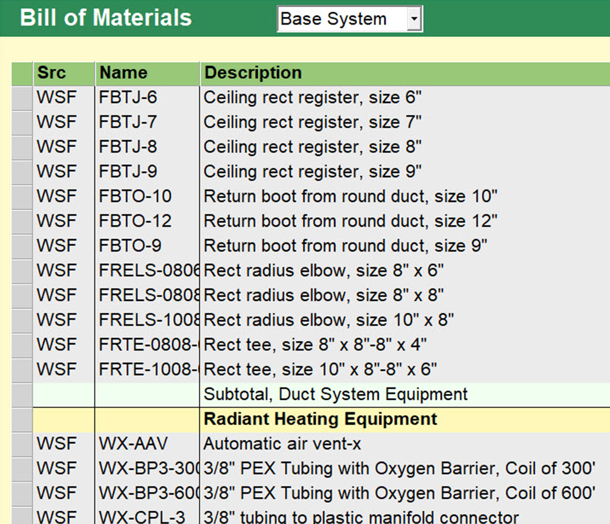 MiTek Wrightsoft Business Solutions Estimating Software - Screenshot of Wrightsoft software