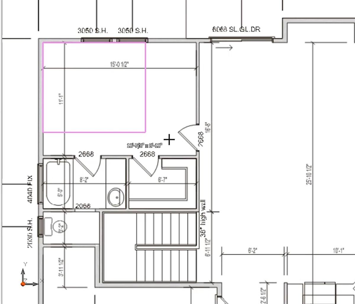 MiTek 2D Drafting Service - Portion of a 2D blueprint